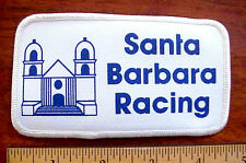 SANTA BARBARA RACING CALIFORNIA CHURCH MISSION SYMBOL CANVAS IRON-ON AUTO PATCH