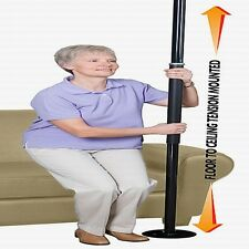 STANDERS 1150B Black Room/Bed Security Pole Grab/bar Stand/ing Up Assist NEW