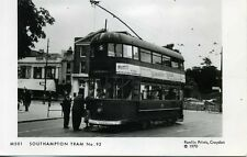Pamlin repro photo postcard M501 Southampton Tram No.92