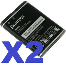 2x NEW ORIGINAL PANTECH OEM Battery PBR-55B For Impact P7000 930mAh