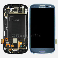 Samsung Galaxy S3 i747 T999 LCD Screen Display Touch Screen Digitizer Frame Blue