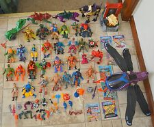 Lot of figures Masters of the Universe He-Man complete accessories weapons parts