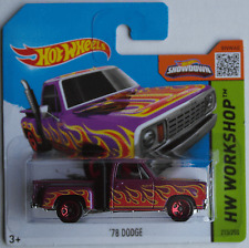 Hot Wheels - ´78 / 1978 Dodge Pickup fliedermet. mit Flammen Neu/OVP