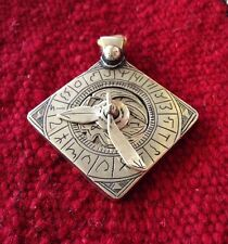 Vintage Moroccan Islamic Square Astrolabe Pendant Functional