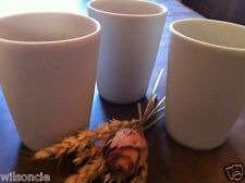 Set of 3 Sandstone Tea / Individual Chocolate Fondue Cup by Feignasse France