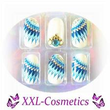 20 Airbrush French Tips Designer Tips Nails 1x Feile+Rosenholz Gratis DF-138