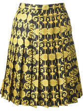 Versace Collection Signature Print Pleated Skirt Size: IT 40 = US 4 NWT ITALY