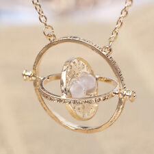 White Hourglass Harry Potter Necklace Hermione Granger Rotating Spin