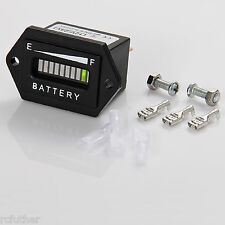 12-24 Volt Auto LED Cart Digital LED Battery State of Charge Indicator Meter USA
