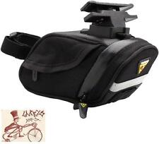 TOPEAK AERO WEDGE DX SMALL BLACK BICYCLE SEAT SADDLE BAG WITH MOUNT