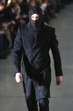 Alexander McQueen Fall 2005 men's cashmere beaded embroidered coat topcoat NEW