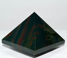49mm Bloodstone Pyramid Natural Green Red Heliotrope Crystal Mineral Stone India