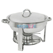 New 5 Qt Stainless Steel Chafer, Full Size Round Chafer for Party Serving