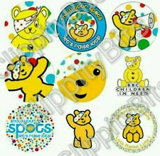 "50 x 1"" Inch Pre Cut Bottle Cap Images Children in Need Charity Pudsey Bear pics"