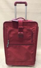 "Tumi Rare Red Ballistic Nylon 22"" Wheeled Carry On Suitor Suitcase 2210RF"