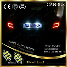 PAIR NUMBER PLATE 6 LED SMD 36mm CANBUS WHITE 6000K MERCEDES C CLASS W203 00-07