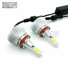 80W H8 H9 H11 COB LED Lamp Headlight Kit Car Beam Bulb 12V Upgrade DRL Fog light