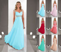 New Formal Chiffon Evening Ball Gown Party Prom Bridesmaid Dress Stock Size