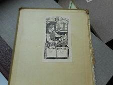 Exlibris Jugendstil Knabe mit Buch am Fenster, um 1910 Künstler SF