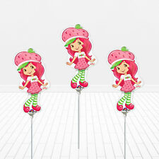 "3 - 14"" Strawberry Shortcake Birthday Balloons Party Favors Decorations"