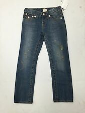 True Religion Girl's Distressed Straight Leg Jeans Flap Pocket size 6 Nd3