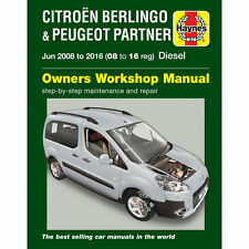 Peugeot Partner Teepee and Van B9 II 1.6 Diesel Jun 2008-16 Haynes Manual