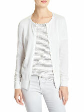 [143 77] Banana Republic Womens White Forever Cardigan Swearter Sz Small S