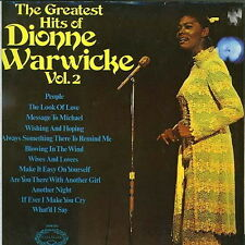 """12"""" The Greatest Hits Of Dionne Warwick Vol. 2 (Blowing In The Wind) 70`s"""