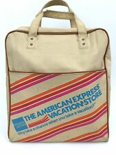 Vintage American Express Vacations Travel Carry on Tote Airlines Luggage  bag