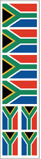 40 Stickers: South Africa Flag, S. African Party Favors, Decals
