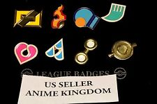 USA Seller Cosplay POKEMON Gym Badges in box Hoenn League Set 8  Badge Pins