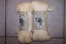 vintage 3 Oz 1920's 1940's unshrinkable SURF BATHING KNITTING WOOL - CREAM 4 ply