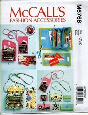 McCall's Sewing Pattern 6768 Phone Purse Rewards Card Wallets Coupon Holder NEW