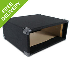 """4U 19"""" Inch Black Carpet Covered MDF Rack Equipment Sleeve Case Protect Your Amp"""