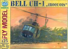 Bell UH-1 Iroquois paper card model 61cm long 1:33 scale