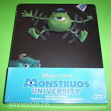 MONSTRUOS UNIVERSITY DISNEY PIXAR BLU-RAY NUEVO Y PRECINTADO STEELBOOK 2 DISCOS