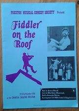 Fiddler On The Roof photo programme Preston Charter Theatre 1976 Musical Comedy