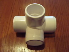 fruit cage funiture grade PVC 4 way fittings 1/2 inch 0.84 od pipe 4 in pack