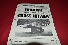 Kubota GC54B GC60B Grass Catcher Operator's Manual CHPA
