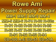 ROWE AMI JUKEBOX POWER SUPPLY REPAIR VINYL MODELS MM-1 TO R94 - CD-100A-H R51-A
