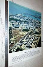 PHOTO ECOLE 1967 GEOGRAPHIE PETROCHIMIE LAVERA BOUCHE DU RHONE
