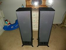 Yamaha NS-8390 3-Way 3 Driver Bass Tower Home Theater Black Speaker Set