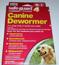 Safe-Guard Canine Dewormer Dogs 31 to 40 lbs Tape Round Hook Whip Worms 3 pouche