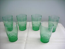 Vintage Drinking Glasses - Set of 6 - Green