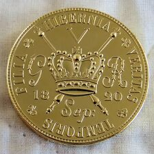 IRELAND 1820 GIII GOLD COATED PROOF PATTERN PIEDFORT GUNMONEY CROWN PLAIN EDGE