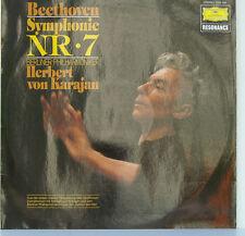 """BEETHOVEN SYMPHONIE NR. 7 BERLINER PHILHARMONIKER HERBERT VON KARAJAN 12"""" LP d17"""