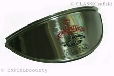 ROYAL ENFIELD CANNON  EMBOSSED BRASS METAL HEADLAMP SHADE RED BLACK @ ECspares