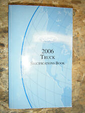 2006 FORD TRUCK SPECIFICATIONS BOOK MANUAL F-150 250 SUPER DUTY RANGER EXPLORER