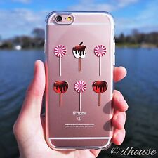 MADE IN JAPAN Soft Clear TPU Case Lollipop Apple Candy for iPhone 6 & iPhone 6s