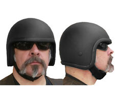 NEW BLACK SKULL CAP OPEN FACE OUTLAW CANNONBALL NOVELTY HELMET SIZE XS-3XL